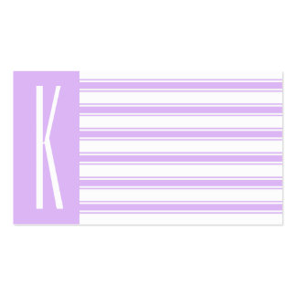 Listras horizontais roxas & brancas da luz - cartão de visita