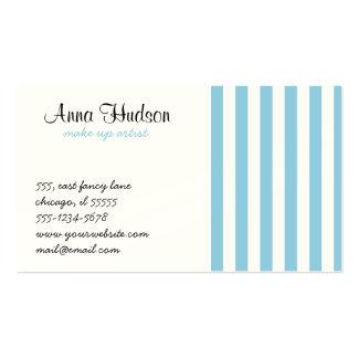 Listras (linhas paralelas) - azul branco cartao de visita