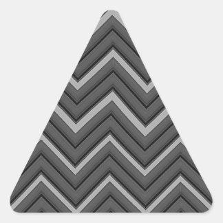 Listras marteladas da cidade de Chevron do metal Adesivo Triangular