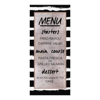 Listras & menu da recepção de casamento dos 10.16 x 22.86cm panfleto