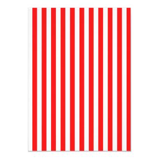 Listras mesmo vermelhas e brancas convite 12.7 x 17.78cm