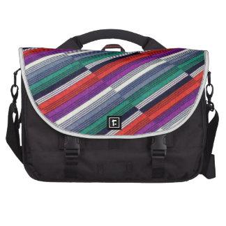 Listras multicoloridos pasta para laptop