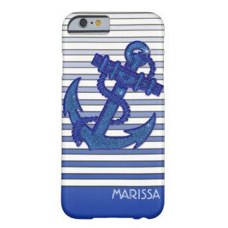 Listras náuticas de Ombre do barco de navigação da Capa Barely There Para iPhone 6
