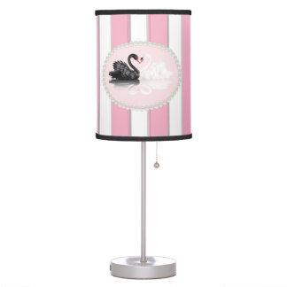 Listras, pérolas & lâmpada cor-de-rosa elegantes