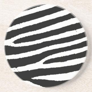 Listras pretas brancas da zebra porta-copos