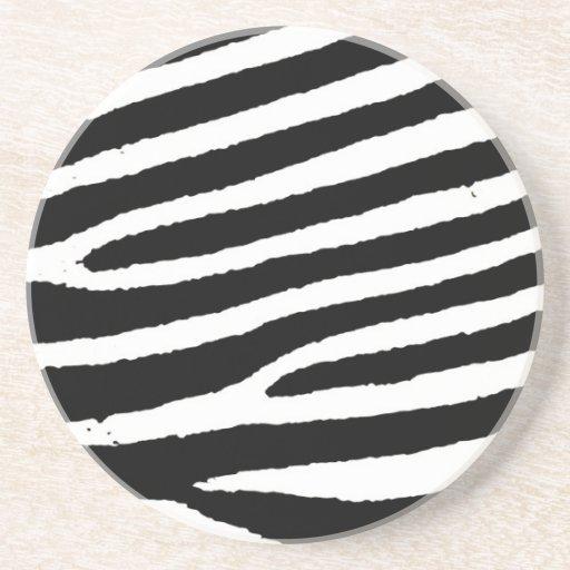 Listras pretas & brancas da zebra porta-copos