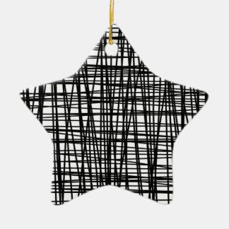 Listras pretas da aguarela do Brushstroke Ornamento De Cerâmica