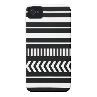 Listras preto e branco capinha iPhone 4