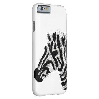 Listras preto e branco do impressão da zebra capa barely there para iPhone 6