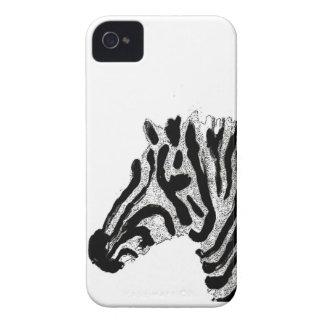 Listras preto e branco do impressão da zebra capa para iPhone