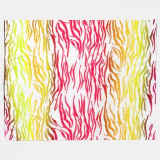 Listras quentes da zebra cobertor de lã