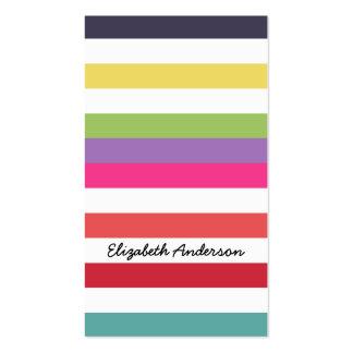 Listras quentes do arco-íris em cores da forma da  cartoes de visitas