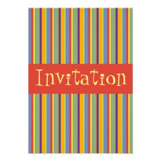 Listras retros coloridas do princípios dos anos 60 convites