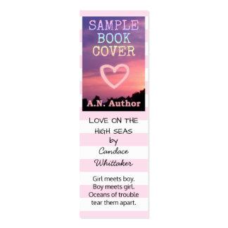 Listras romances do marcador da promoção do autor cartão de visita skinny