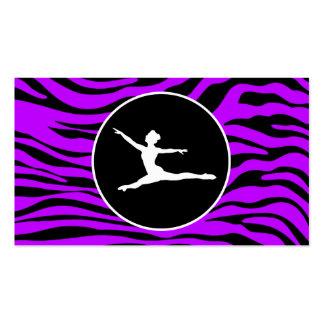 Listras roxas elétricas da zebra; Balé Cartão De Visita