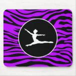 Listras roxas elétricas da zebra; Balé Mousepads