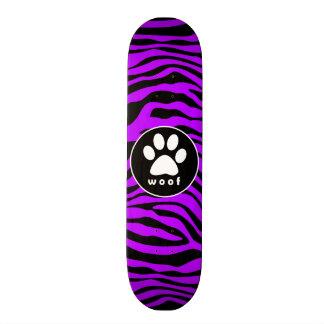 Listras roxas elétricas da zebra; Impressão da pat Shape De Skate 18,7cm