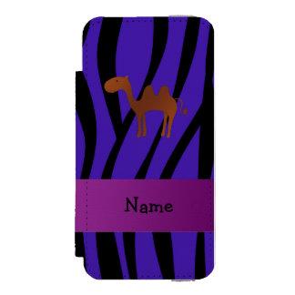 Listras roxas personalizadas da zebra do camelo