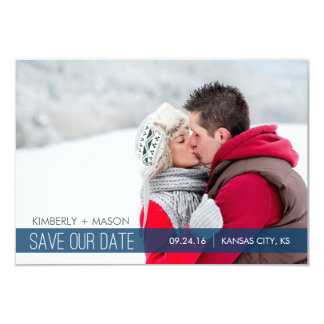Listras simples que Wedding economias que a data Convite 8.89 X 12.7cm
