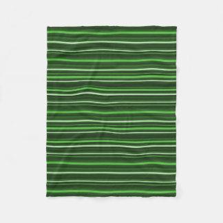 Listras verdes cobertor de lã