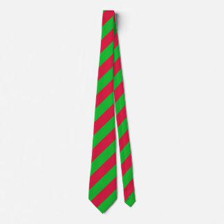 Listras verdes do Natal e vermelhas clássicas Gravata