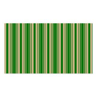 Listras verdes do ouro do Natal e do Natal Cartao De Visita