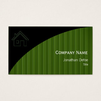 Listras verdes dos bens imobiliários   cartão de visitas