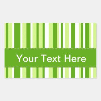 Listras verdes legal; Listrado Adesivo Retangular