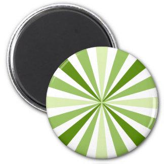 Listras verdes modernas imãs de geladeira