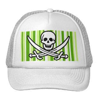 Listras verdes; Roger alegre listrado; Pirata Boné