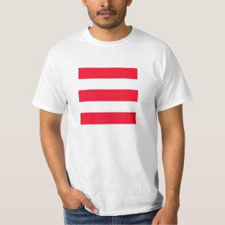 Listras vermelhas corajosas t-shirts