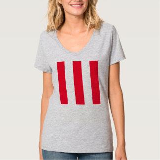 Listras vermelhas corajosas tshirt