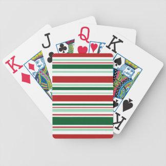 Listras vermelhas das letras grandes, verdes, baralhos para pôquer