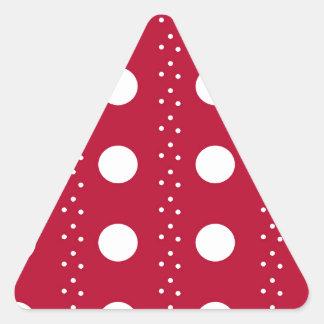 Listras vermelhas de Polkadot Adesivo Triangular