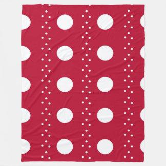 Listras vermelhas de Polkadot Cobertor De Velo