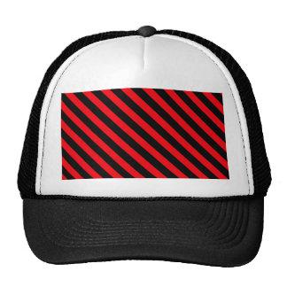 Listras vermelhas e pretas bonés