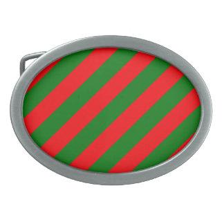 Listras vermelhas e verdes de Candycane do Natal