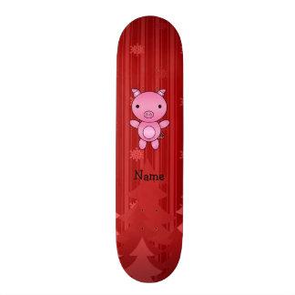 Listras vermelhas personalizadas das árvores de Na Skateboard