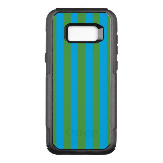 Listras verticais azuis e verdes capa OtterBox commuter para samsung galaxy s8+