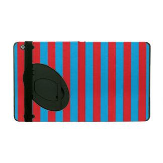 Listras verticais azuis e vermelhas iPad capa