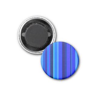 Listras verticais azuis ímã redondo 2.54cm