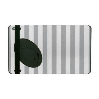 Listras verticais cinzentas iPad capa
