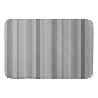 Listras verticais cinzentas tapete de banheiro