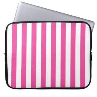 Listras verticais cor-de-rosa capas para computadores