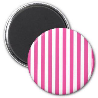 Listras verticais cor-de-rosa ímã redondo 5.08cm