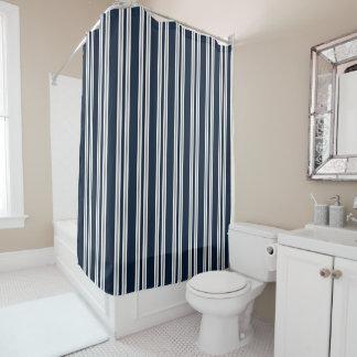 Listras verticais de cinzas brancas e de prata dos cortina para chuveiro