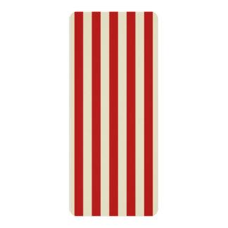 Listras verticais do clássico da pipoca do vintage convite 10.16 x 23.49cm