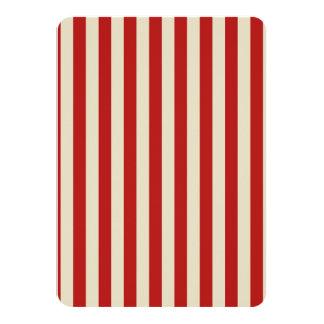 Listras verticais do clássico da pipoca do vintage convite 11.30 x 15.87cm