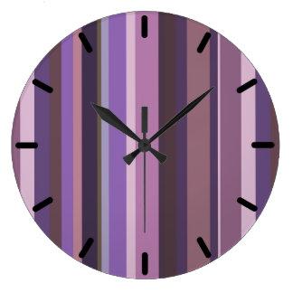 Listras verticais malva relógios de paredes