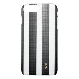 Listras verticais pretas/brancas, adicionam o capa iPhone 7 plus